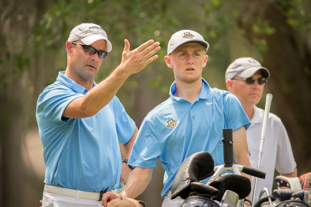 Men's golf earned its first spot in the top 25 last October. Photo courtesy: Marquette Athletics