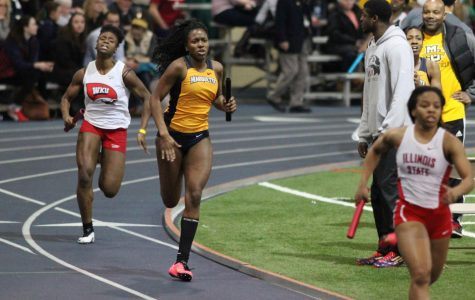Terica Harris is part of a returning core of seniors that hope to bring another BIG EAST title to women's indoor track and field. (Photo by Maggie Bean, courtesy of Marquette Athletics.)