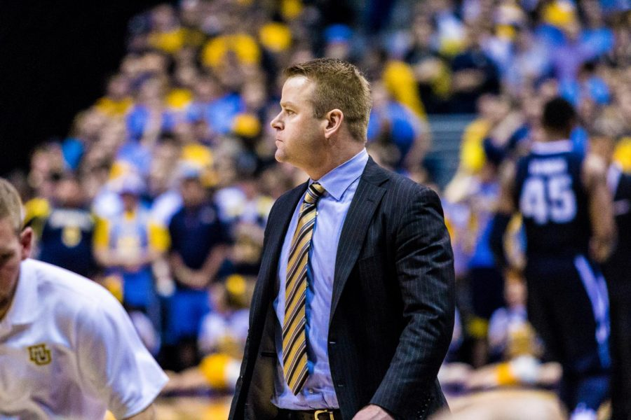 Head+coach+Steve+Wojciechowski+saw+reasons+for+both+optimism+and+concern+in+Marquette%27s+loss+to+Villanova.
