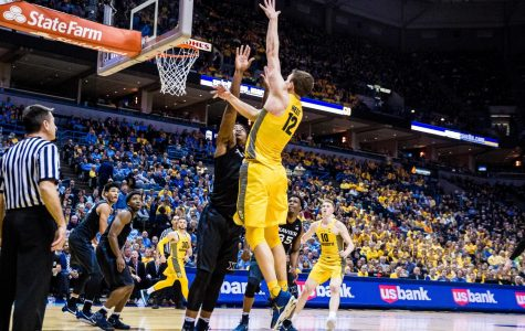Matt Heldt scored six points on 3-of-3 shooting and had a vital block in Marquette's 72-69 BIG EAST Tournament win vs. DePaul (Wire stock photo).