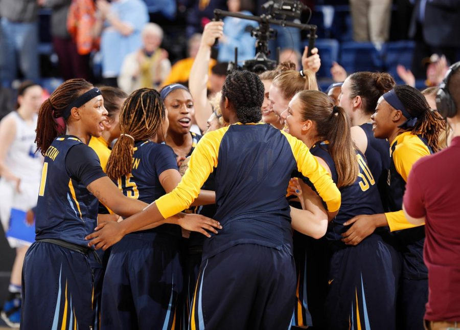 Marquette has a 14-game home winning streak after a close victory over Butler. (Photo by Maggie Bean and courtesy of Marquette Athletics.)