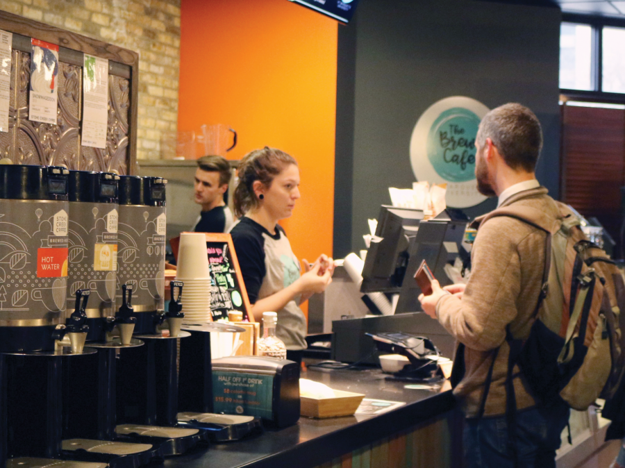 The+Brew+Bayou+proved+to+be+the+most+popular+spot+for+students+in+need+of+coffee+or+just+a+place+to+study.+