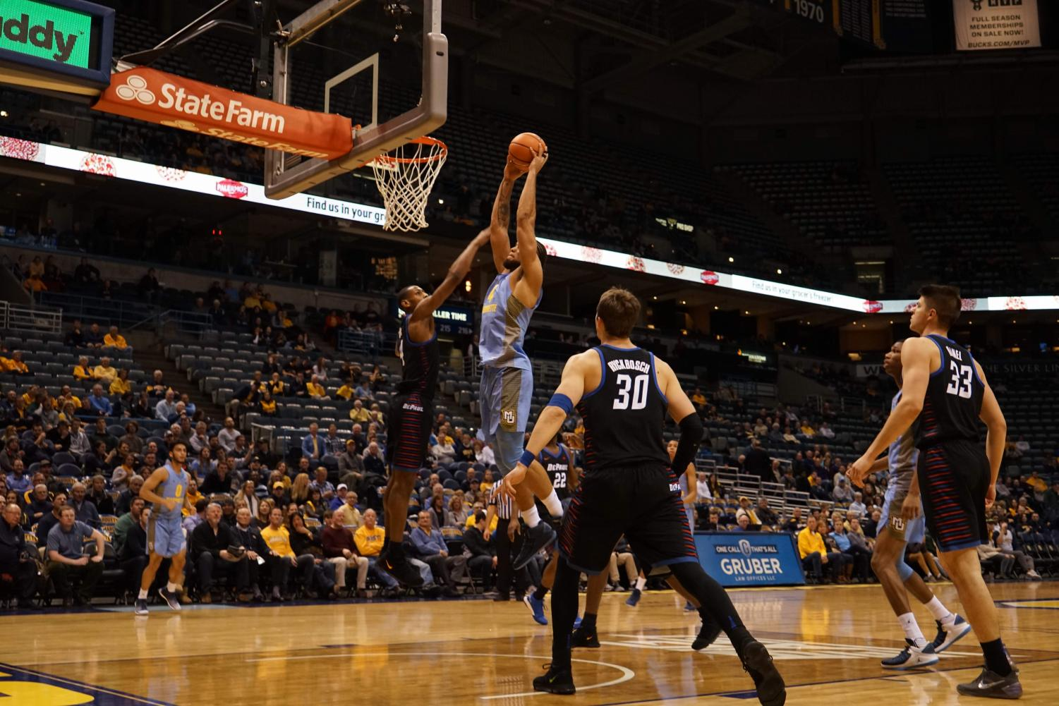 Theo John scored a career-high 12 points.