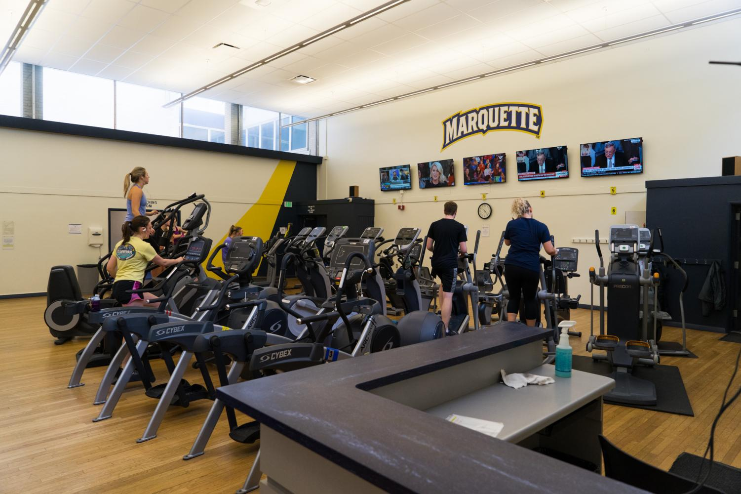 Some students hope to spend more time at the gym this semester as part of their resolution to be more healthy.