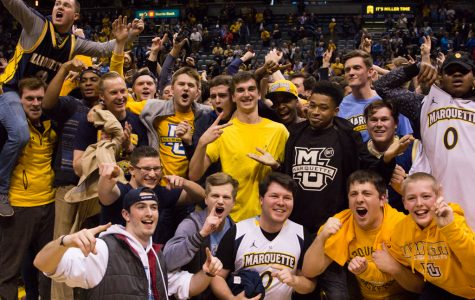 When Marquette defeated No. 1 Villanova last year, fans stormed the court, providing lasting memories even for those that weren't at the game.