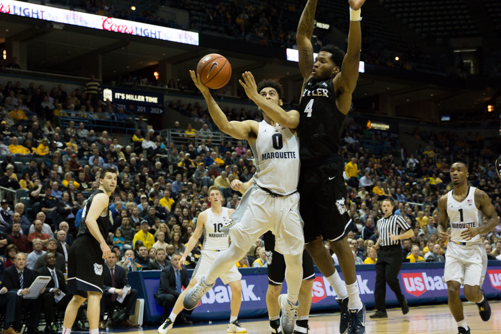 After pacing Marquette's offense in recent games, sophomore shooting guard Markus Howard had a relatively quiet evening, scoring just 14 points.