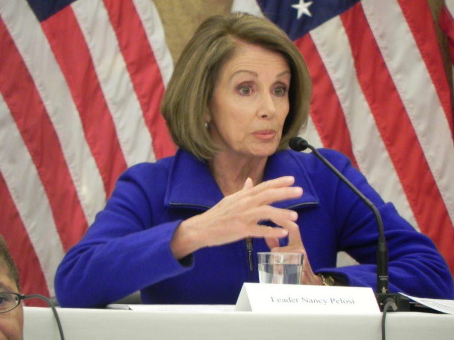 Minority+Leader+Nancy+Pelosi+was+among+Democrats+negotiating+with+Republicans+about+immigration+policy+during+the+government+shutdown.