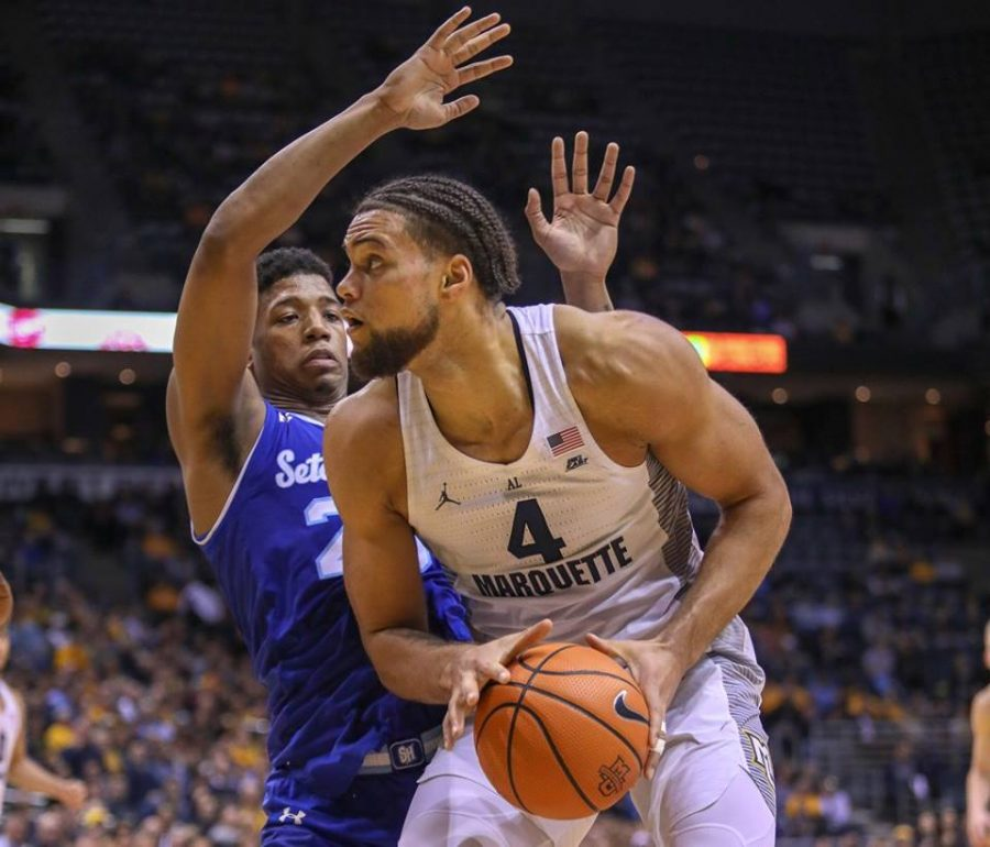 FLOOR SLAPS: Marquette out-rebounds in upset over No. 13 Seton Hall