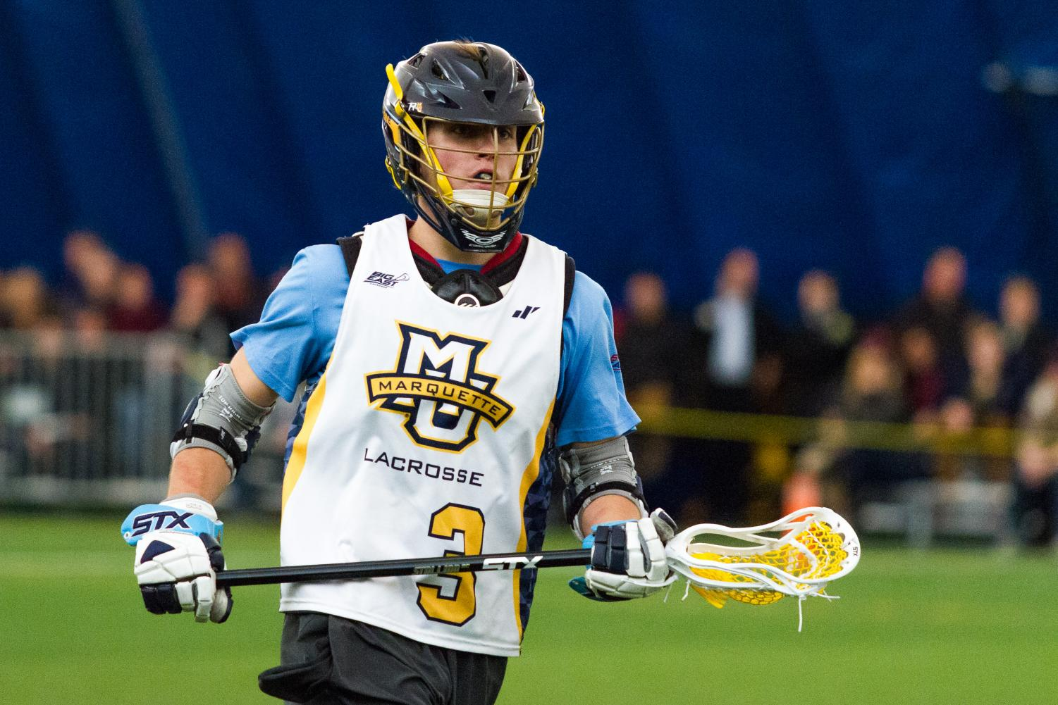 Senior Mikey Zadroga III is one of Marquette's leaders on defense.
