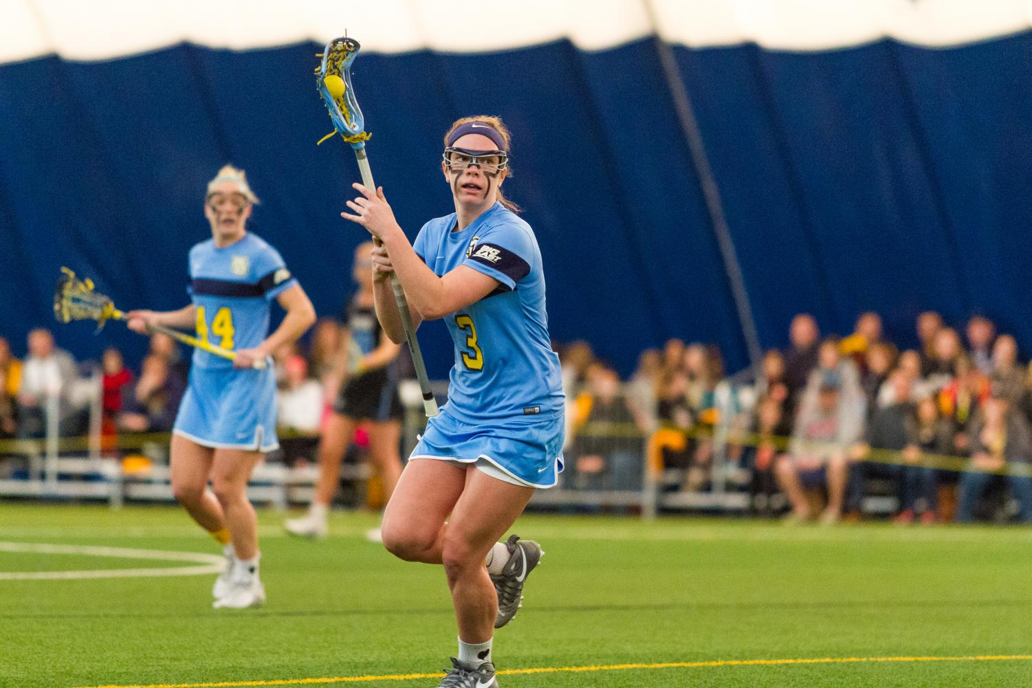 Grace Gabriel scored five of Marquette's eight goals in a loss to Louisville Sunday.