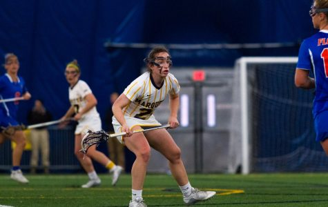 Women's lacrosse senior  defender Alex Gambacorta is one of five on the team to have attended Loyola Academy, a Jesuit high school in suburban Chicago.