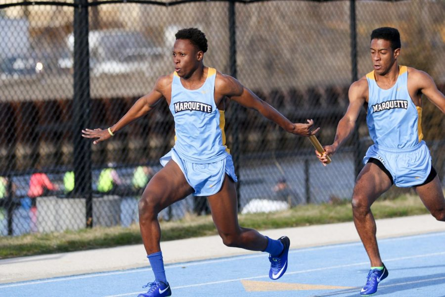 Joshua+Word+won+Marquette%27s+first-ever+gold+medal+in+the+60-meter+event+at+the+BIG+EAST+track+and+field+championships.+%28Photo+courtesy+of+Maggie+Bean%2FMarquette+Athletics%29