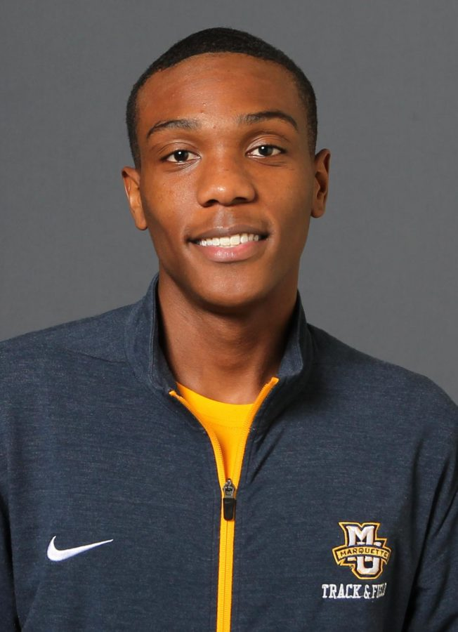Sophomore high jumper Daniel Armstrong will represent Marquette at the NCAA Indoor Championships for the first time since 2015. (Photo courtesy of Marquette Athletics.)