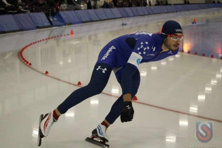Emery Lehman finished 21st out of 22 in the 5,000 meter race in his 2018 Winter Olympics debut. (Photo Courtesy: Emery Lehman)