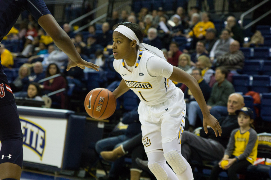 Junior Danielle King scored 11 points in Marquette's victory over St. John's to clinch a share of the BIG EAST women's basketball title.
