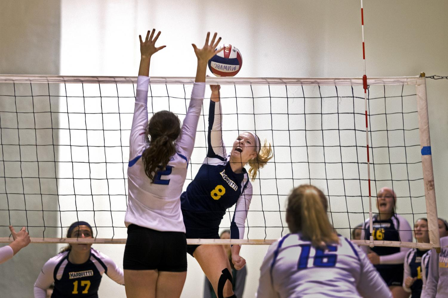 Women's volleyball placed fifth at its home tournament last weekend.