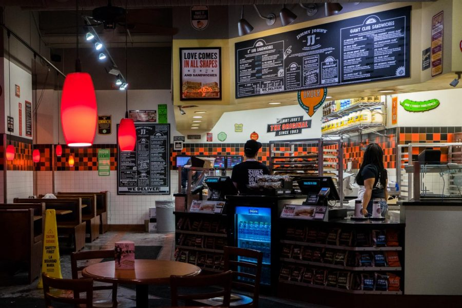 The campus Jimmy John's, located on Wells Street, avoided the recent Midwestern salmonella outbreak.