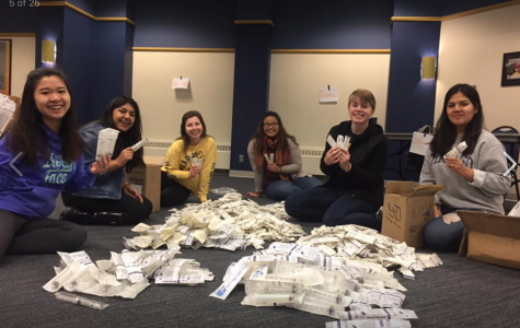 Members of Marquette's B4P chapter are sending unused hospital supplies to countries in need. Photo courtesy of Shreya Shah.