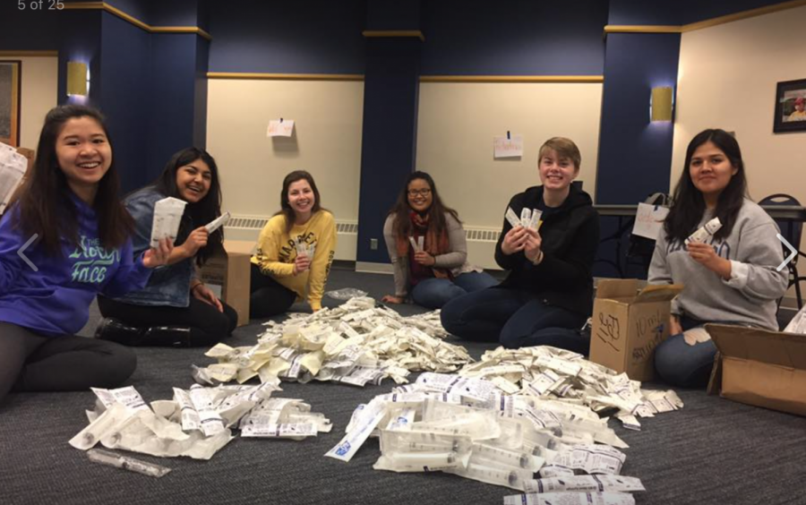 Members+of+Marquette%27s+B4P+chapter+are+sending+unused+hospital+supplies+to+countries+in+need.+Photo+courtesy+of+Shreya+Shah.