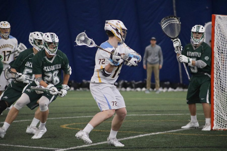 Freshman+attackman+Anthony+Orsini+has+scored+six+goals+in+two+games+for+Marquette.+He+will+have+his+biggest+test+of+the+season+against+Ohio+State+Friday+afternoon.