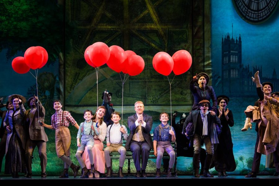 The cast of the National Tour of Finding Neverland performs a group number.