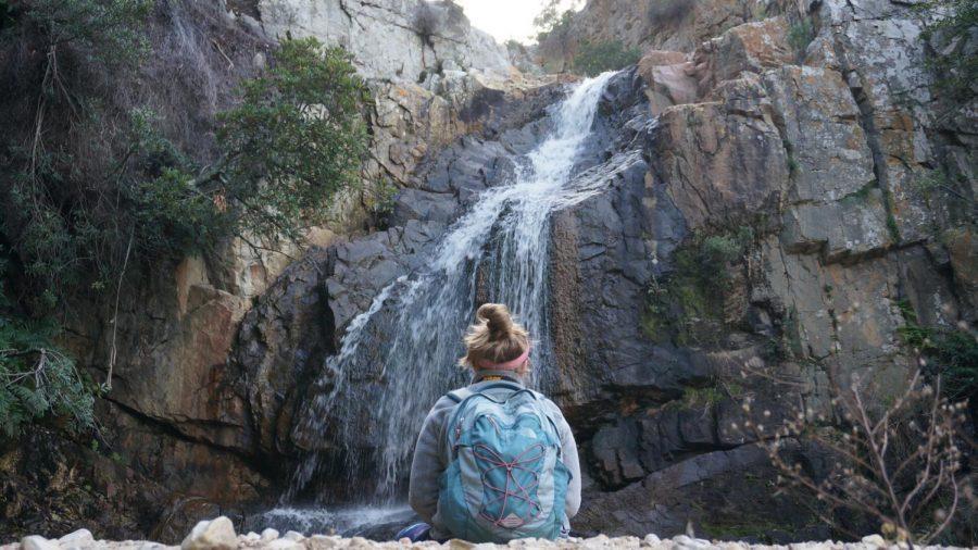 Catherine Sullivan-Konyn sits at a retreat center in Hermanes, South Africa. Photo courtesy of Jake Zellinski.