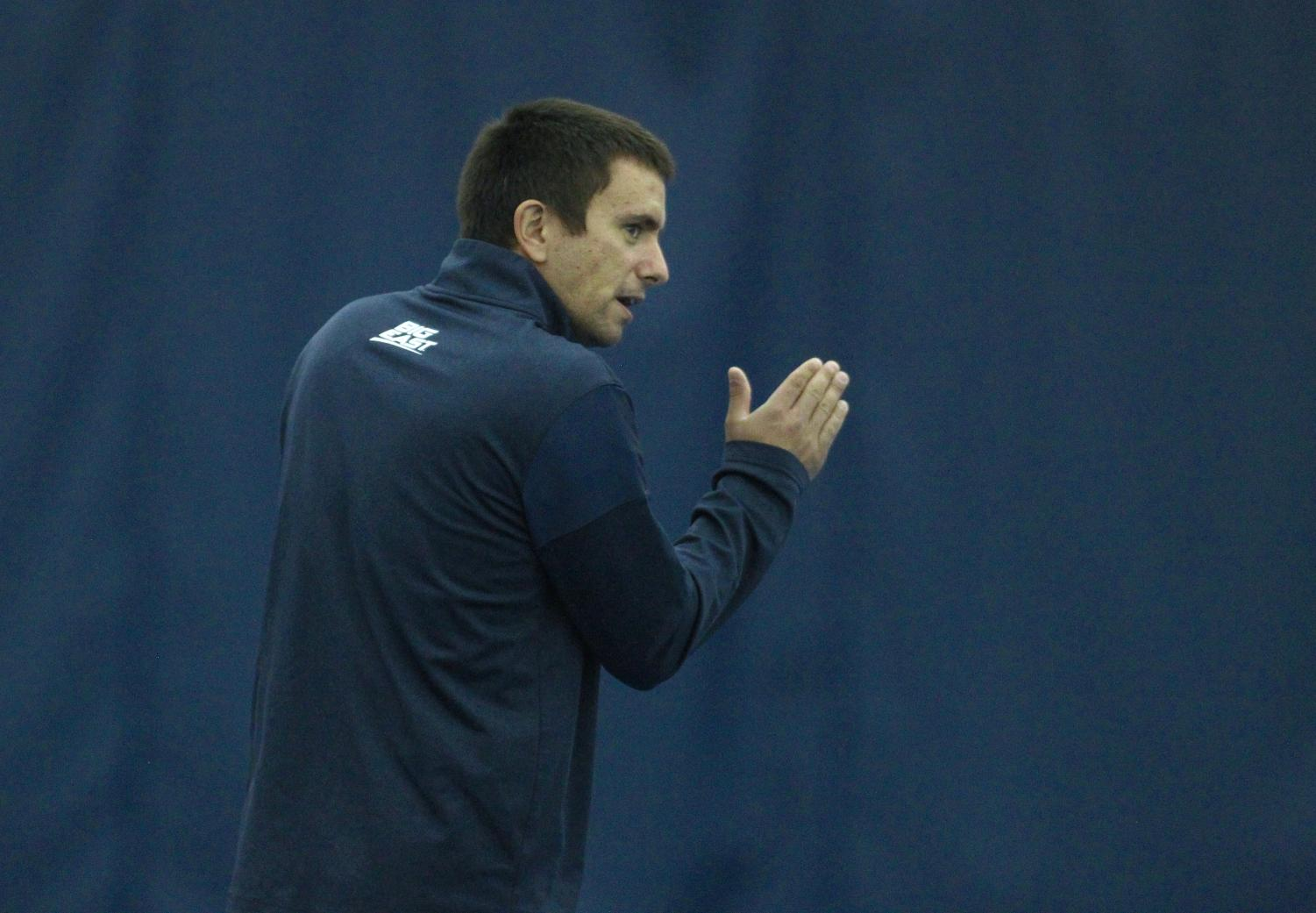 Assistant women's tennis coach Dusan Medan is also one of Marquette's most decorated tennis players.