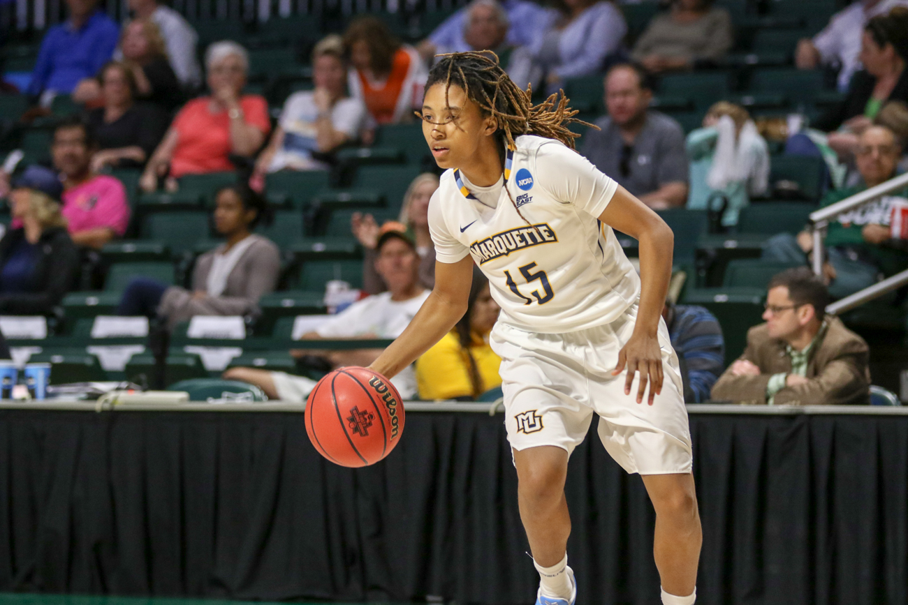 Amani Wilborn scored 26 points on 9-of-11 shooting against the Butler Bulldogs in the quarterfinals of the BIG EAST Tournament.