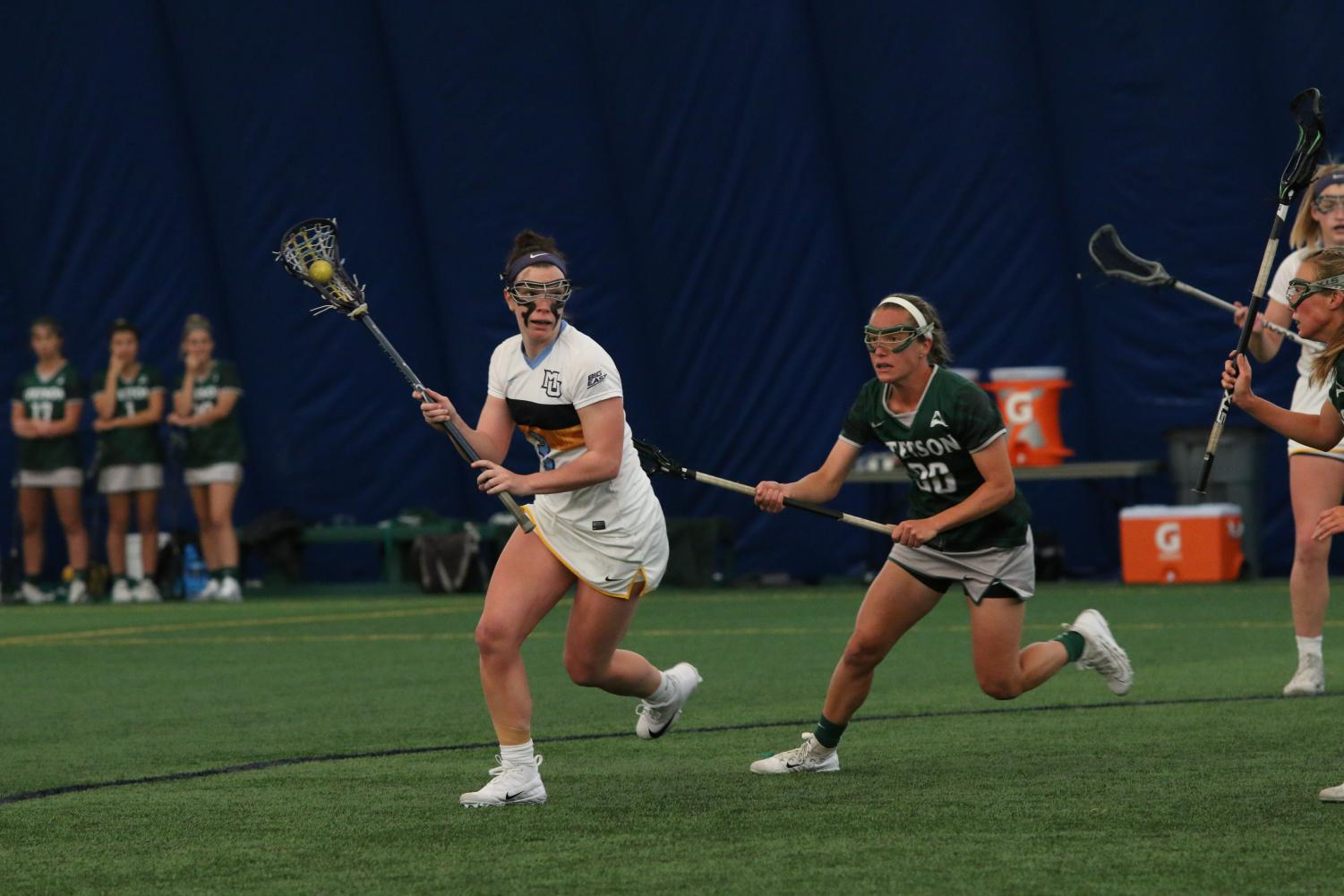 Junior Grace Gabriel scored four goals against Northwestern to bring her season total to 30.
