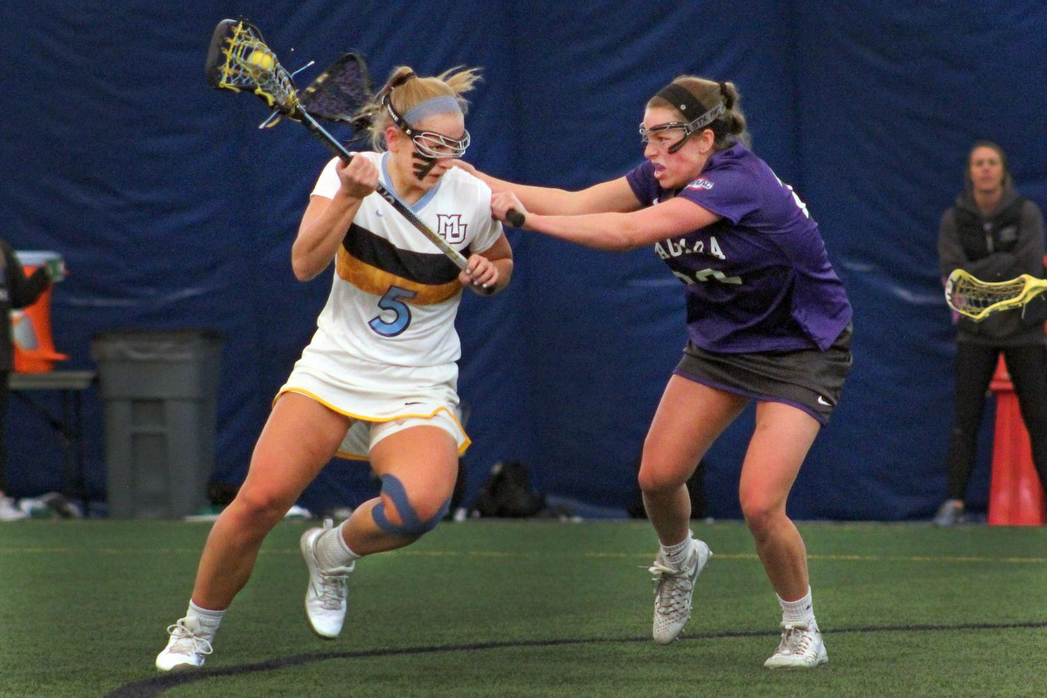 Marquette broke the school record for goals in a game in its 23-15 victory over Niagara.