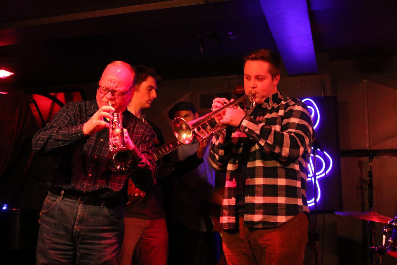 Wayne Groth and Matt Heilmann perform at the Jazz Estate's monthly jam.