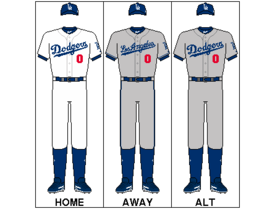 The Dodgers' jerseys feature a red number on the front, which helps them achieve such a highly ranked uniform.