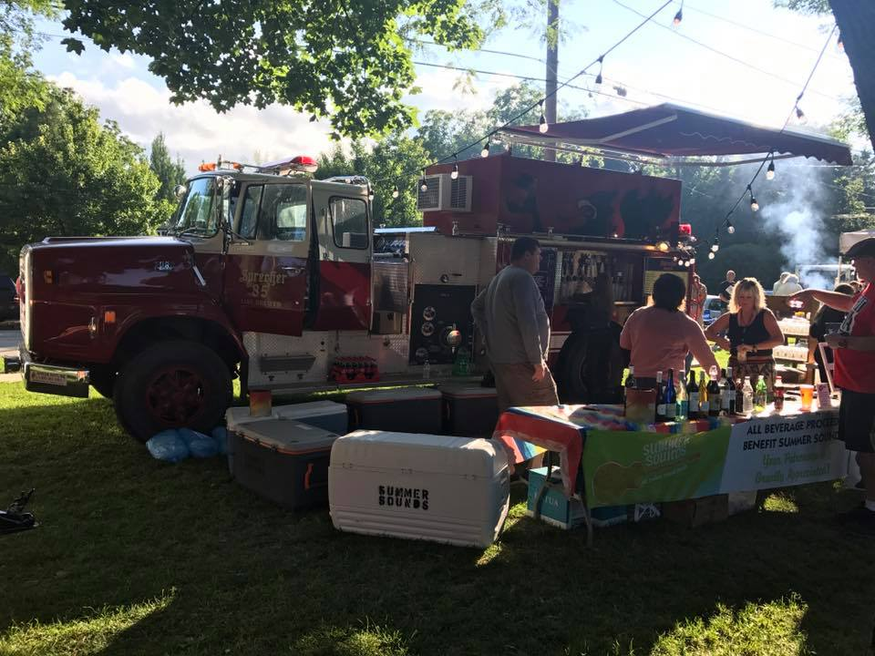 Sprecher Brewing Company will have two firetrucks repurposed as beer serving stations at the sixth annual Traveling Beer Garden this summer.