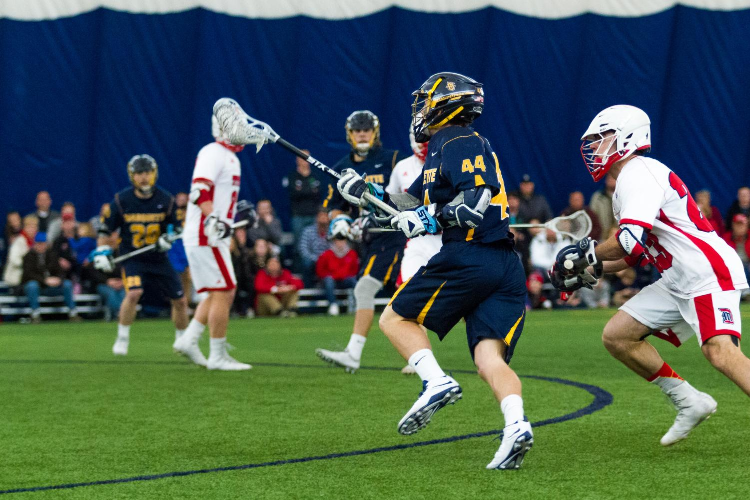 Tanner Thomson scored six goals in Marquette's victory against St. John's last season. He will redshirt the 2018 season.
