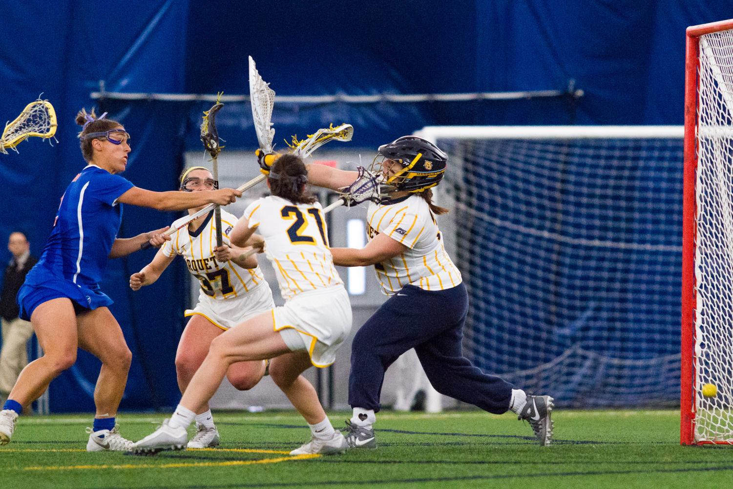 Julianna Horning has been in goal for over 81 percent of Marquette's total minutes this season.