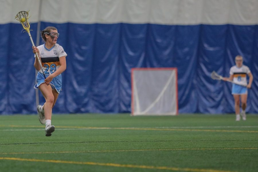 Jocelyn Miller is the only freshman to start every game for Marquette women's lacrosse. (Photo courtesy of Marquette Athletics.)