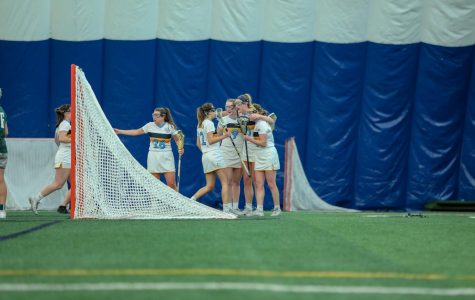 Marquette women's lacrosse finished 2017-'18 with a 6-3 BIG EAST record, the best conference record in program history. (Photo courtesy of Marquette Athletics)