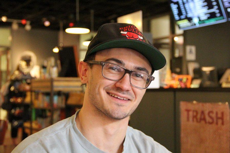 Student Aidan Flanagan hopes to establish a garden site near Wild Commons.