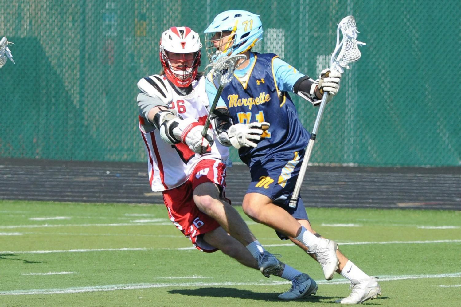 Club lacrosse player Niko Kakos will go to Israel this summer for the Federation of International Lacrosse (FIL) Championship. (Photo courtesy of Niko Kaikos.)