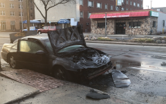 Car catches on fire outside Planned Parenthood
