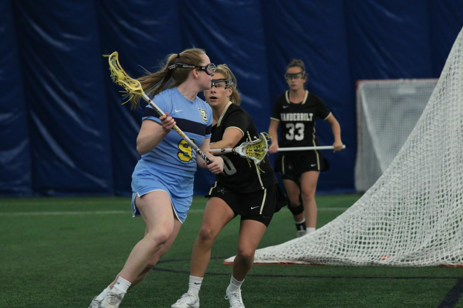 Marquette women's lacrosse was undefeated in the Valley Fields dome until the loss to Denver on Wednesday.