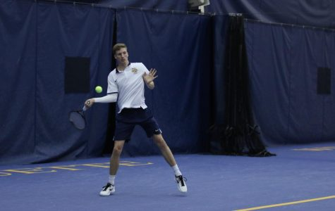 Men's tennis heads to South Carolina confident following undefeated spring at Helfaer