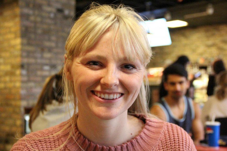 Student Julie Kinsella has dreams to launch a campus exchange app.