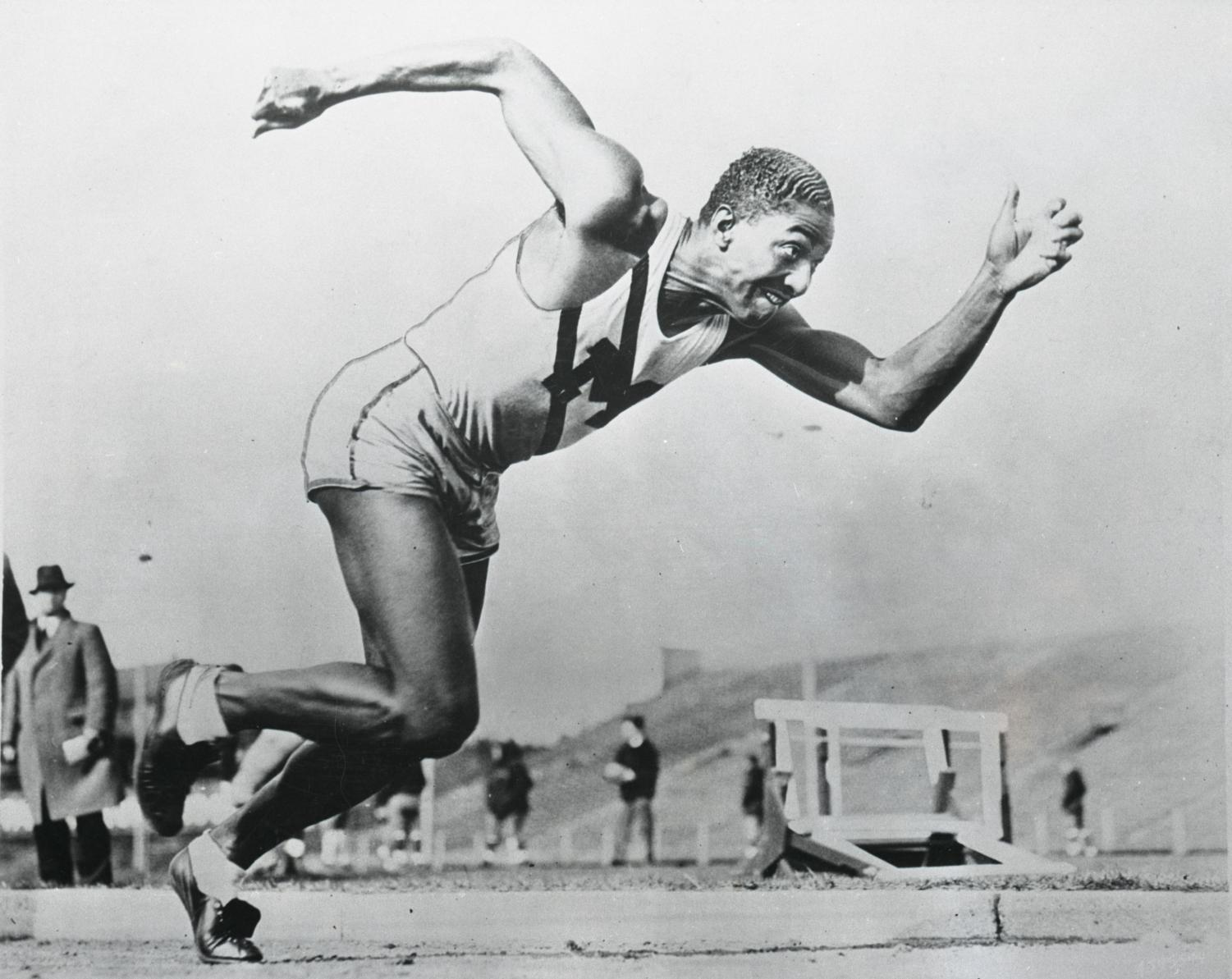 Sprinter Ralph Metcalfe still holds the Marquette 100-meter time record. (Photo courtesy of Marquette University  Department of Special Collections and University Archives, Marquette University Libraries.)