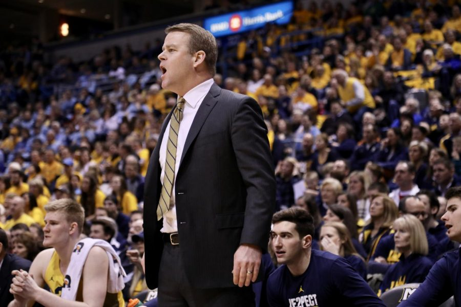 Men%27s+basketball+head+coach+Steve+Wojciechowski+%28pictured%29+and+his+staff+have+reached+out+to+several+potential+point+guard+transfers.+