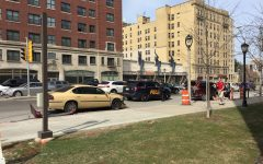 Car accident occurs outside Engineering Hall
