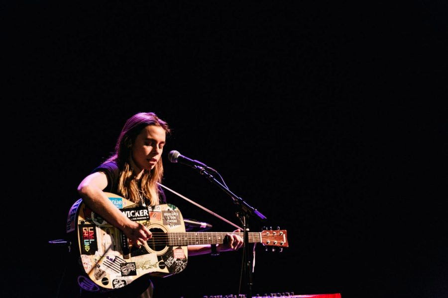 Julien Baker performing in New York in 2017