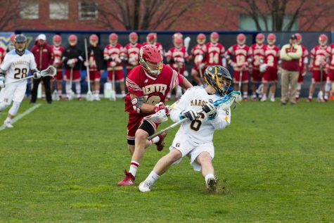 MLAX loses defensive battle to No. 1 Notre Dame in overtime