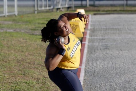 Track and field coach Bellford mentors potential All-American jumpers