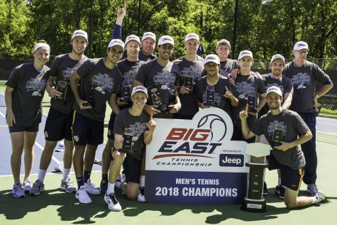 Men's tennis has winning streak snapped at four games